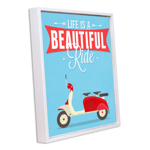 Life is a Beautiful Ride - Motivational Framed Canvas
