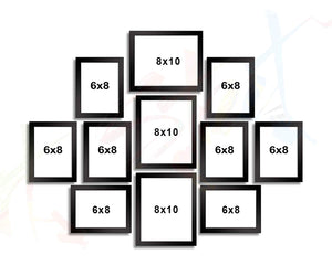 Boulevard Set of 11 Individual Wall Photo Frames