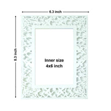Load image into Gallery viewer, Set of 2 Decoralicious White Abstract Design Table Photo Frame For Home Decor