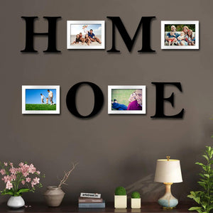 Set of 4 White Wall Photo Frames
