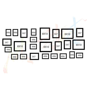 Black Wall Photo Frame Set Of-25