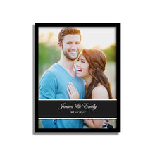 Load image into Gallery viewer, Art Street Personalized Date & Name Display Photo to Canvas Print Wall Art Print -Size 10x 12 Inches