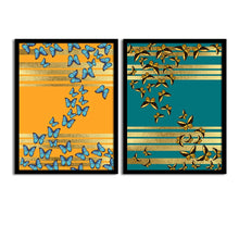 Load image into Gallery viewer, Art Street Numerous Butterfly Matte Art Print, Painting for Home Décor Set of 2
