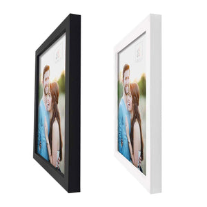Art Street Set Of 8 Black & White Wooden Wall Photo Frame, Picture Frame for Home Decor