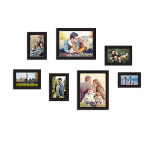 7 Black Wall Photo Frames Collage Picture Frames Wall Gallery Kit