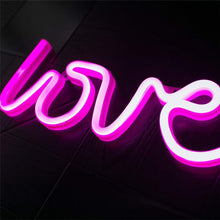 Load image into Gallery viewer, New Love Battery Night Light For Home Decor, Color - Pink