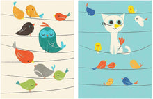 Load image into Gallery viewer, Birds Theme 2 Poster Set For Kids Room