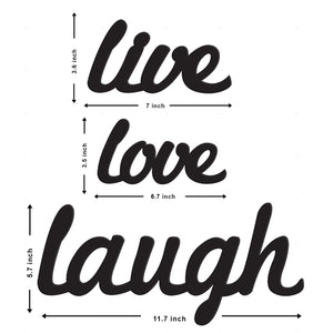 Art Street Live Love Laugh MDF Plaque Painted Cutout Ready to Hang Home Décor Wall Art