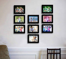 Load image into Gallery viewer, Eccentric Drop Chain Synthetic Set Of 9 Photo Frames