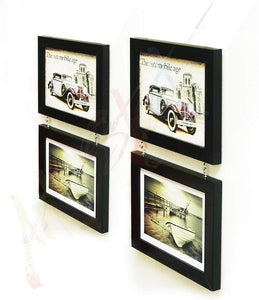 Fascinating Drop Chain Black Photo Frame Set Of 4