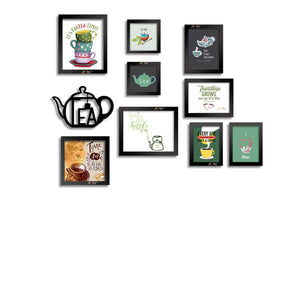 I Love Tea - Mix Size Set of 9 Photo Frames