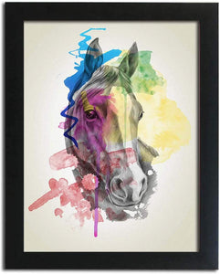 Abstract Horse Framed Art Print