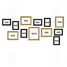 Load image into Gallery viewer, Nebula Set of 12 Black Individual Wall Photo Frame / Wall Decor