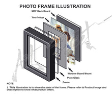 Load image into Gallery viewer, Onmium Black Photo Frame - Set of 9 Individual Wall Photo Frames