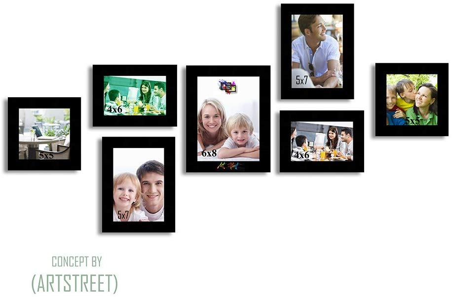 Hep-Tad Wood Wall Photo Frame Set