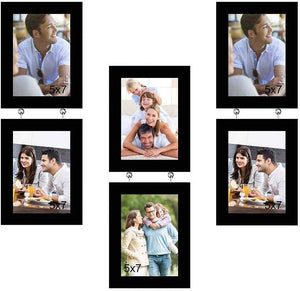 Elegant Drop Chain Synthetic Photo Frame Set Of 6