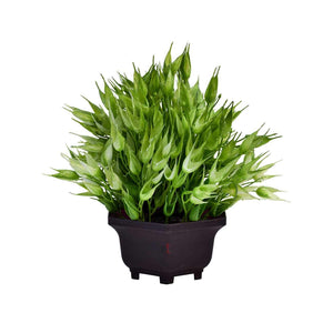 Multi Head Artificial Plant With Pot, Perfect For Home, Garden & Office Decorating - Size 8 x 8.5 Inch