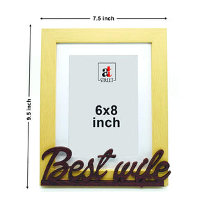 Best Wife Customize Table Photo Frame For Valentine Day Photo Gift / Love Gift