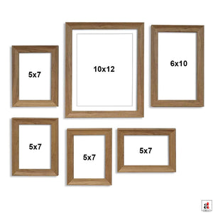 Natural Cave Premium Brown photo frames for wall ,living room ,Gift - set of 6 .