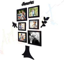 Load image into Gallery viewer, Memory Tree Individual Black Wall Photo Frame With MDF Plaque