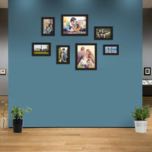 Load image into Gallery viewer, 7 Black Wall Photo Frames Collage Picture Frames Wall Gallery Kit