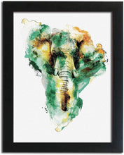 Load image into Gallery viewer, Abstract  Vivid Elephant Framed Art Print