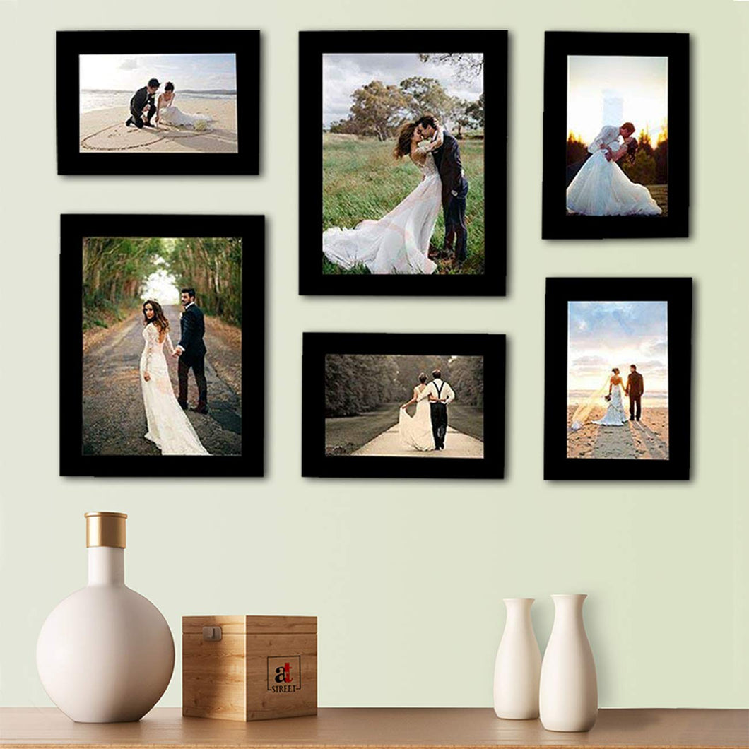 Decorous Black Wall Photo Frame - Set of 6 Individual Photo Frame