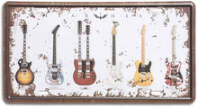 Load image into Gallery viewer, Strum A Guitar Metal Plate Poster-Galvanized Iron With Printed Top !