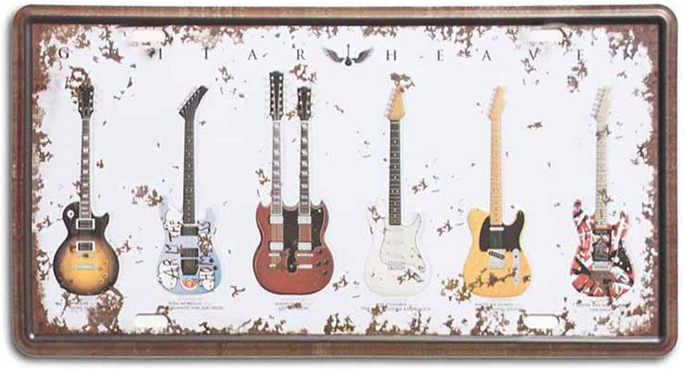 Strum A Guitar Metal Plate Poster-Galvanized Iron With Printed Top !
