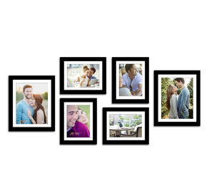 Black Wall Photo Frames Set of 6