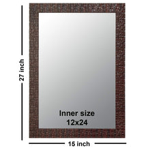 Load image into Gallery viewer, Marble Red Wall Mirror Inner Size 15x21 Inchs