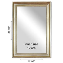 Load image into Gallery viewer, Decorative Wall Mirror Antique Silver Inner Size 12 x 18 inch, Outer Size 16 x 22 inch