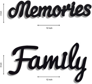 Beautiful Family Memories Individual Wall Photo Frame Set With MDF Plaque