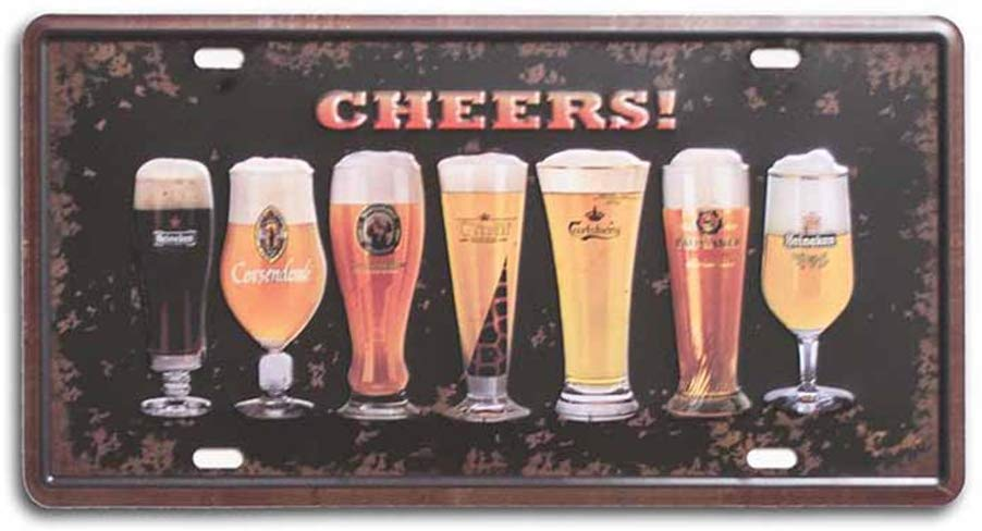 Cheers Plate with Printed Top Poster Sing Tin Plate