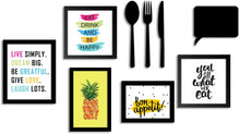 Load image into Gallery viewer, Art Print Wall Photo Frame For Dining Table, Kitchen Or Eating Area With MDF Cutlery And Chalk Board