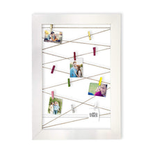 Load image into Gallery viewer, Wooden MDF Photos Frame With Photos Hanging Clip - White -Size - 20.5 x 14.5 Inches