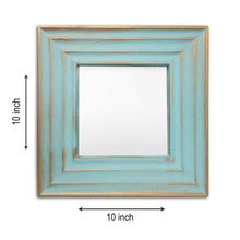 Load image into Gallery viewer, Art Street -Set of 3 Blue Large Mirror Decorative in Square Shape (10 x 10 Inchs)