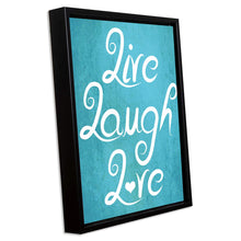 Load image into Gallery viewer, Live Laugh Love Framed Canvas