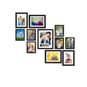 11 Individual Black Wall Photo Frames Wall Decor Set