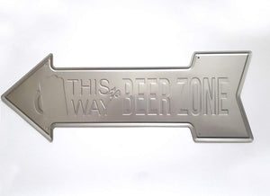 This Way Beer Zone Arrow Tin Signs Bar Posters Rustic Wall Plaque