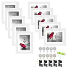Load image into Gallery viewer, 10 Individual Black Wall Photo Frames / Wall Decor Set