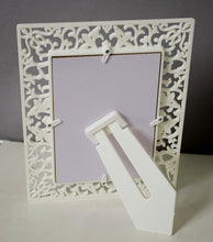 Load image into Gallery viewer, Decoralicious White Designer Royal Table Top Photo Frame Perfect For Office & Home Decor