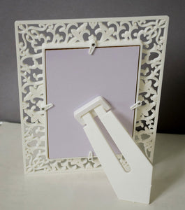 White Designer Table photo frame 4X6