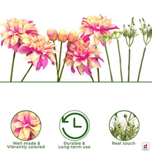Load image into Gallery viewer, Set Of 2 Artificial 11 Stick White & Pink Beautiful Flowers With Stem