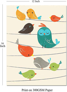 Birds Theme 2 Poster Set For Kids Room