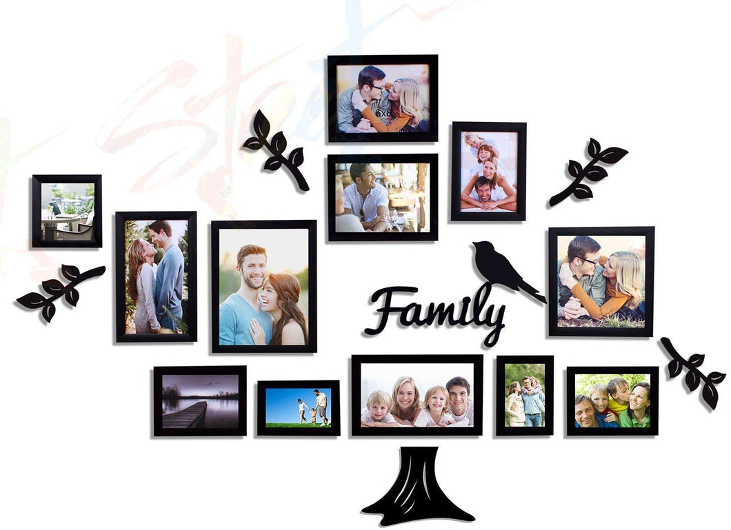 Family Tree Individual Wall Photo Frame With MDF Plaque