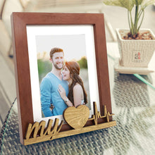 Load image into Gallery viewer, My Heart Beat Customize Table Photo Frame For Valentine Day Photo Gift / Love Gift