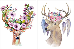 Beautiful Deer Theme 2 Poster Set