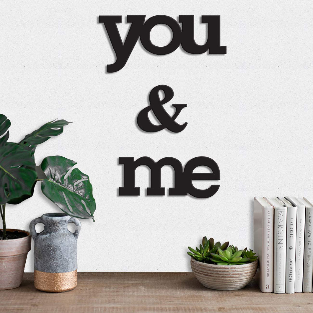 Art Street You & Me MDF Plaque Painted Cutout Ready to Hang Home Décor Wall Art …
