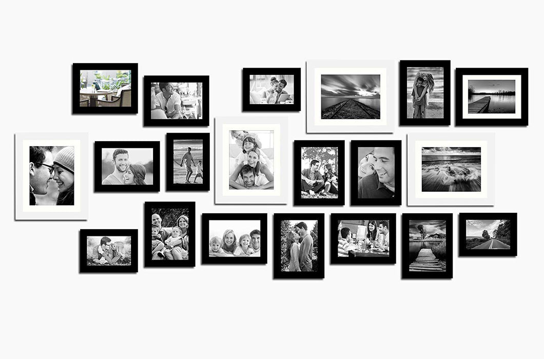 Individual Black Wall Photo Frames Wall Decor Set